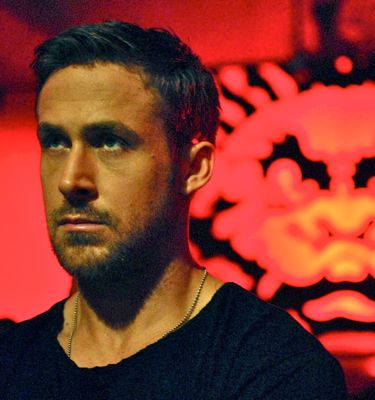 Ryan Gosling in Only God Forgives stares at adversary