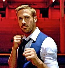 Ryan Gosling holds up fists to fight