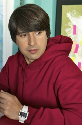 In a World's Demetri Martin sits at breakfast
