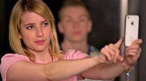 Emma Roberts takes cell phone photo of herself