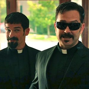 Robert Ben Garant and Thomas Lennon appear as Vatican priests