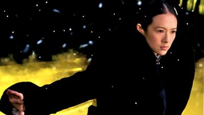 Grandmaster's Zhang Ziyi fights in snow storm