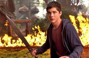 Logan Lerman's Percy Jackson faces foe with sword