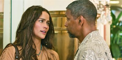 2 Guns' Paula Patton talks to Denzel Washington