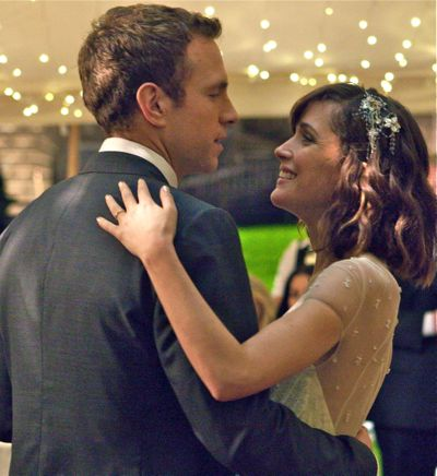 Rafe Spall and Rose Byrne dance at their wedding
