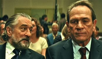 The Family's Robert De Niro sits next to Tommy Lee Jones