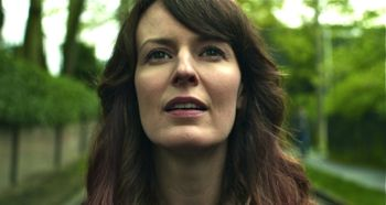 Touchy Feely's Rosemarie DeWitt stares into distance