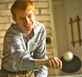 About Time's Domhnall Gleeson plays table tennis