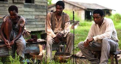 12 Year's Chiwetel Ejiofor and fellow slaves stare at cooking pot