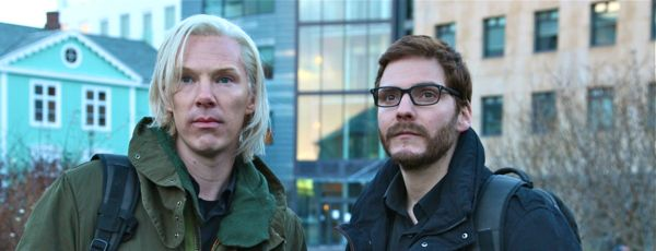 Fifth Estate's Benedict Cumberbatch and Daniel Bruhl stare a potential enemies