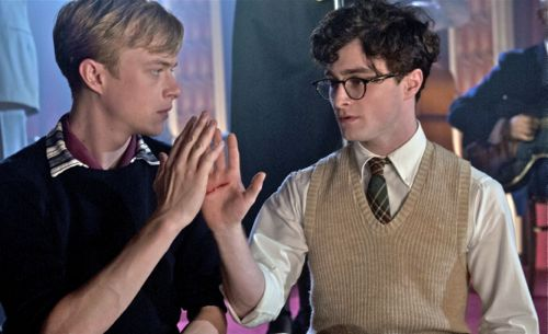Kill Your Darlings' Daniel Radcliffe and Dane DeHaan shake hands