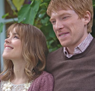 About Time's Domhnall Gleeson, Rachel McAdams share a smile