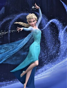 Frozen's Elsa throws freezing magic from right hand