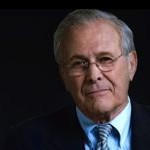 Donald Rumsfeld stares into movie's camera
