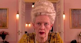 Grand Budapest Hotel's Tilda Swinton made up as ancient heriess