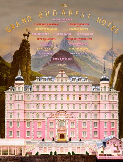 Wes Anderson's Grand Budapeste Hotel poster of titular building