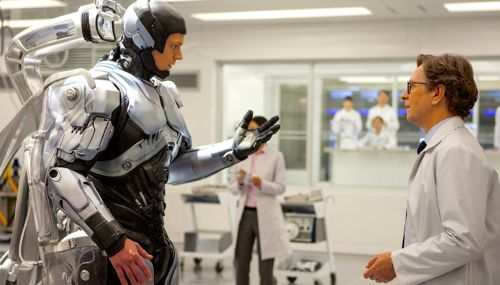 RoboCop's Gary Oldman shows Joel Kinnaman his new robotic body