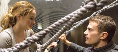 Divergent's Shailene Woodley and Theo James gaze at each other