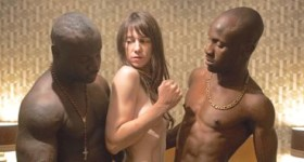 Nymphomaniac's Charlotte Gainsbourg gets naked between two robust men