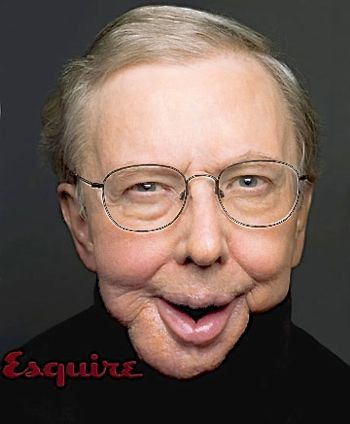 Roger Ebert poses for famous Esquire cover photo