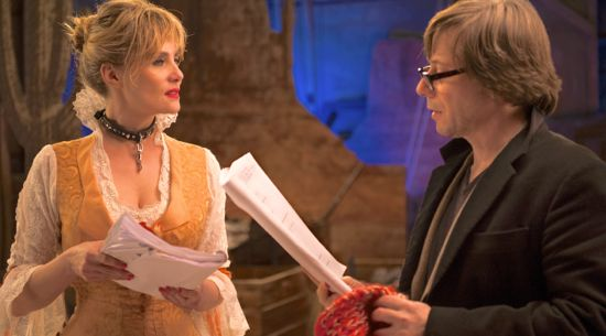Venus in Fur's Emmanuelle Seigner and Mathieu rehearse play