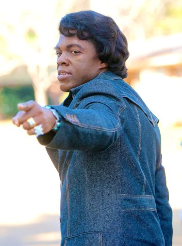 Get on Up's Chadwick Boseman points back as he strolls away