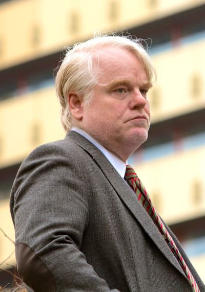 Most Wanted Man's Philip Seymour Hoffman looks to his right