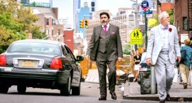 Love is Strange's Alfred Molina and John Lithgow look for cab on Manhattan street corner