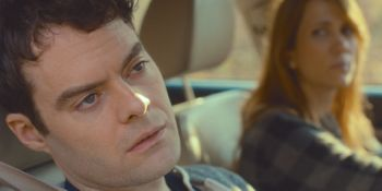 Skeleton Twins' Bill Hader gazes forlornly from car window