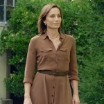 My Old Lady's Kristin Scott Thomas walks in Parisian garden