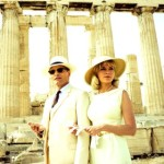 Two Faces' Viggo Mortensen & Kirsten Dunst stand in front of Athens' Parthenon