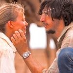 Tracks' Adam Driver puts his hand on Mia Wasikowska's cheek