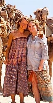 Mia Wasikowska embraces Robyn Davidson, the woman she plays in Tracks