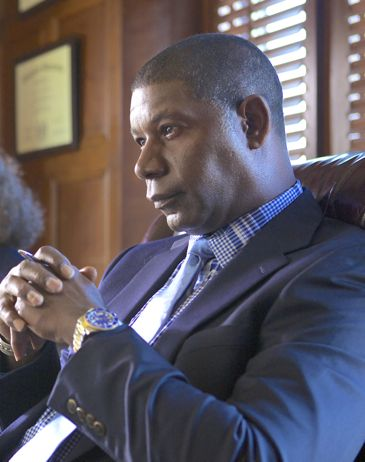 Dear White People's Dennis Haysbert sits with hands folded