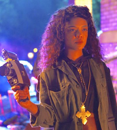 Dear White People's Tessa Thompson has camera in hand on university campus