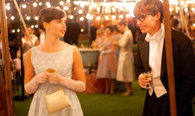 Theory of Everything's Eddie Redmayne flirts with Felicity Jones at party