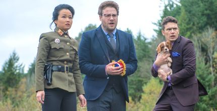 Interview's Diana Bang, Seth Rogen, James Franco escape with dog in Korean woods