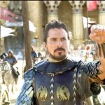 Christian Bale's Moses raises fist as he leads Egyptians into battle