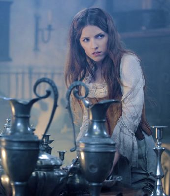 Into the Woods' Anna Kendrick as Cinderella glares past all her kitchen chores