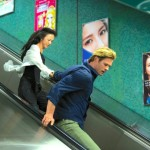 Blackhat's Chris Hemsworth and Tang Wei rush down subway stairs