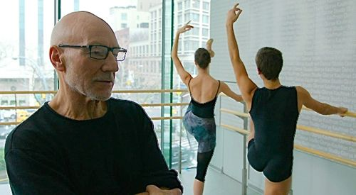 Match's Patrick Stewart watches ballet students at the bar