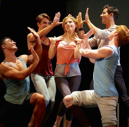 Last 5 Years' Anna Kendrick is surrounded by four dancers in musical number