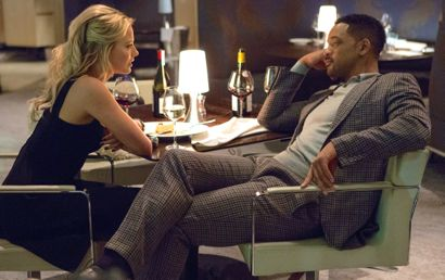 Focus' Will Smith and Margot Robbie chill over restaurant dinner