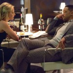 Focus' Will Smith and Margot Robbie relax in fine restaurant