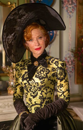 In Cinderella Cate Blanchett's Stepmother is dressed up for princess' ball