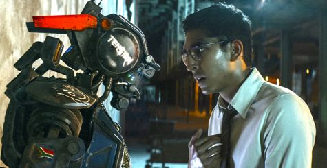 Chappie's Dev Patel talks to his robot creation