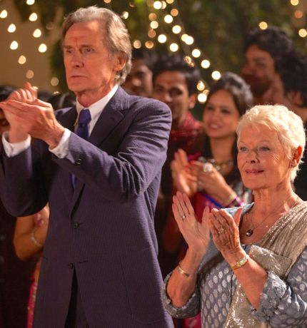 Second Best Exotic Marigold Hotel's Bill Nighy and Judi Dench clap at wedding