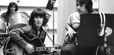 In Wrecking Crew George Harrison plays in recording studio