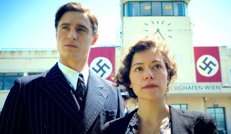 Woman in Gold's Max Irons, Tatiaana Maslany at airport trying to flee Nazi-occupied Austria