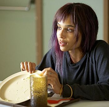 Road Within's Zoe Kravitz shows her empty plate in cafeteria